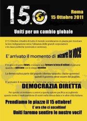 manifesto della protesta del 15 ottobre degli indignati italiani