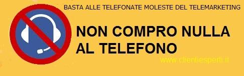 NON COMPRO NULLA AL TELEFONO