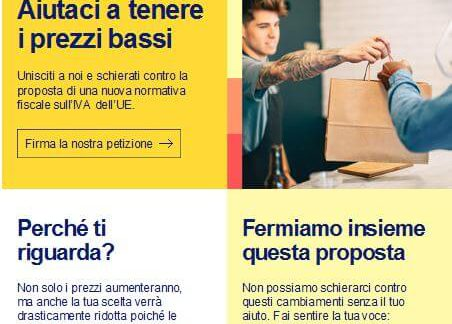 ebay petizione nuove imposte commercio online