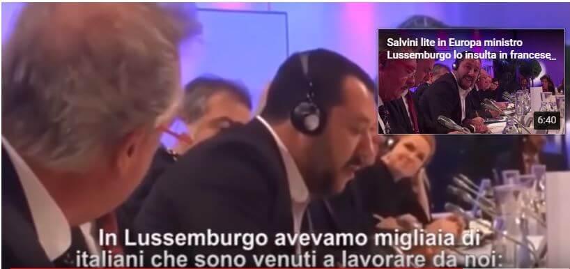 Scontro Salvini-  Asselborn